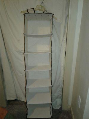 6 shelf Hanging Closet Organizer for Sale in San Antonio, TX