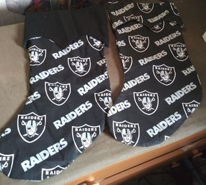 Raiders Christmas Stockings for Sale in Atwater, CA