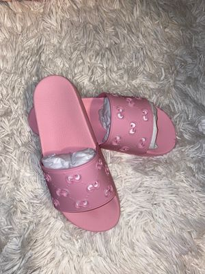 Pink Gucci slides for Sale in Vancouver, WA