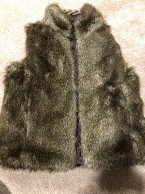 Girl gap faux-fur-vest jacket for Sale in Fairfax, VA