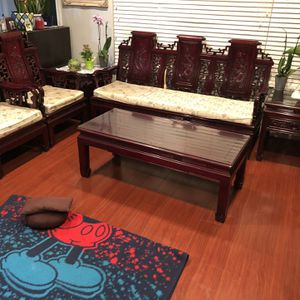 Chinese Wooden Sofa Set for Sale in San Jose, CA
