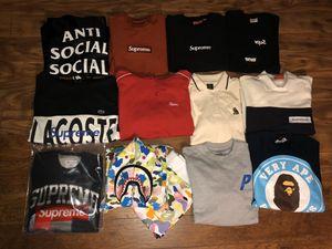 Anti social social club, supreme, and Bape for Sale in Everett, WA