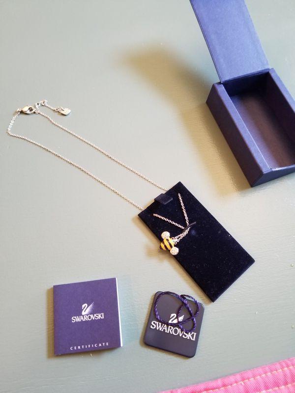 Swarovski Bee silver necklace