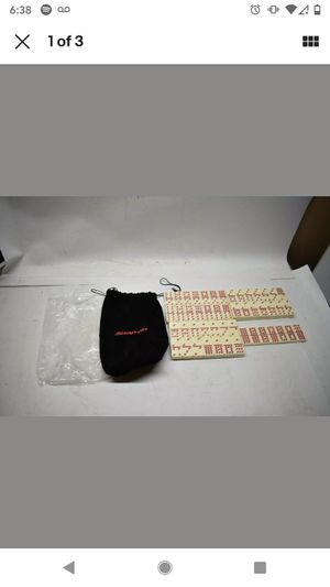 Nice NOS Snap-On Tools Collectible White Domino Set Black Felt Bag Red Etching for Sale in Brockport, NY