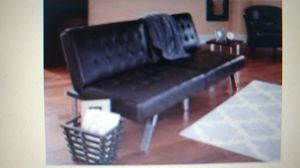 Mainstays Morgan Faux Leather Futon, Brown for Sale in Indianapolis, IN