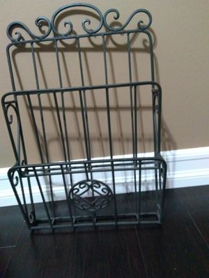Wall double rack magazine holder $15 for Sale in Huntington Beach, CA