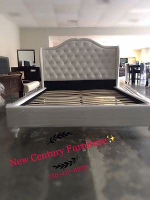 Brand new queen size bed frame WHITE COLOR for Sale in Norcross, GA