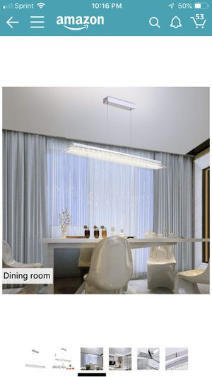 AUDIAN Crystal Pendant Light Pendant Lamp Modern Chandelier Lighting Fixture Contemporary Dimmable LED Pendant Lighting Dining Room Lighting Fixtures for Sale in Indianapolis, IN