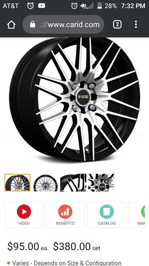"""17"""" NS rims+tire package for Sale in Champaign, IL"""