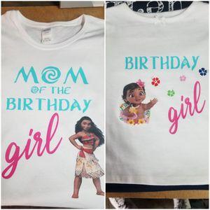 Moana Birthday Custom Made Shirt for Sale in Riverside, CA