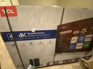 """TCL 65"""" 4K HDR Smart Roku TV 120hz for Sale in Kent, WA"""