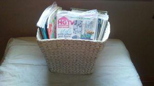 Wicker basket w hgtv magazines for Sale in TN, US