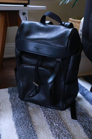Coach men's backpack leather one for Sale in Prosper, TX