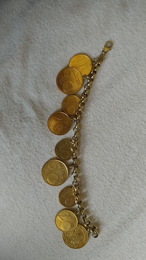 3e68afe2cbc9 Euro Coin Charm Bracelet in 14k Gold Vermeil for Sale in Houston
