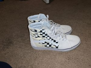Vans sk8 high checkered board flame (sold out at zumiez)Size 9.5 for Sale in Hope Mills, NC