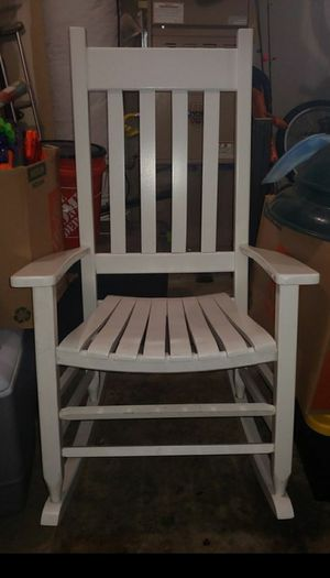 Large white rocking chair for Sale in Washougal, WA