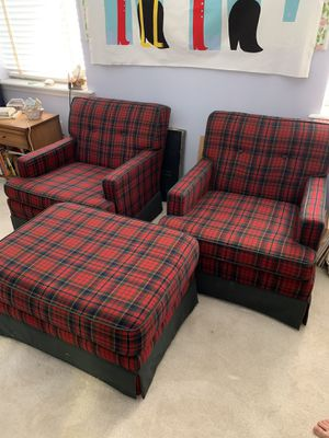 2 armchairs and an Ottoman for Sale in Haines City, FL