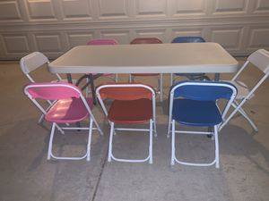 Kids party tables and chairs for Sale in Perris, CA
