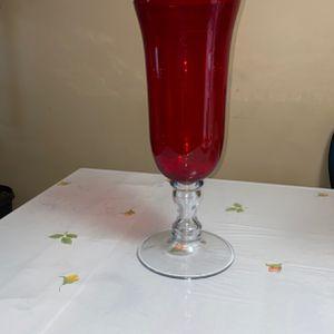 Red Flower Decorative Vase for Sale in Fairfax, VA