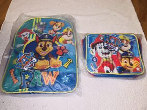 Boys paw patrol bookbag and lunch bag for Sale in Cleveland, OH