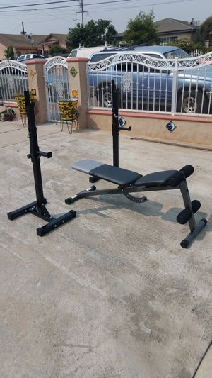 Adjustable bench with squat rack Brand new in box for Sale in Montebello, CA