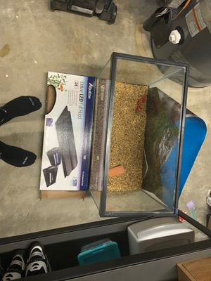 20 gallon tall fish tank and accessories for Sale in Kenmore, WA