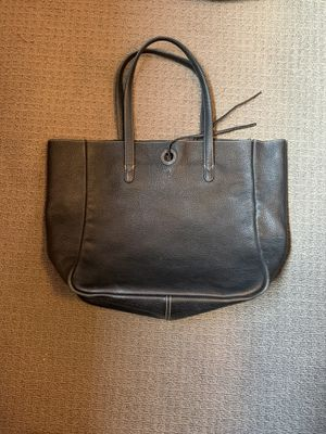 Large Black J.Crew Leather Bucket Tote for Sale in Seattle, WA
