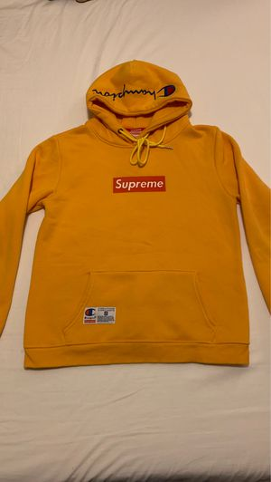 Supreme x champion hoodie yellow for Sale in Orlando, FL