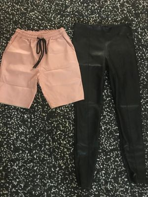 Elegant leather pants and shorts , size M for Sale in Los Angeles, CA