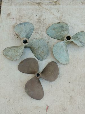 3 brass boat propellers prop for Sale in Lake Elsinore, CA