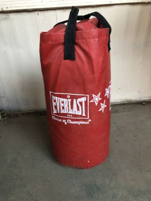 Everlast choice of champions punching bag for Sale in Aurora, CO