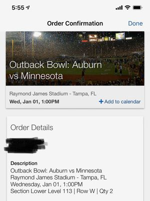 Auburn vs Minnesota lower level tickets for Sale in Cape Coral, FL
