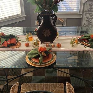 Wrought Iron Dining Table And Chairs for Sale in Conyers, GA