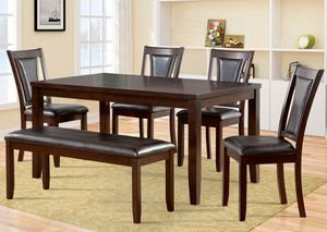 Brand New Like Dining Table With Leather Bench and Chairs Set for Sale in Los Angeles, CA