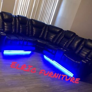 Furniture sectional leather LED for Sale in Garland, TX