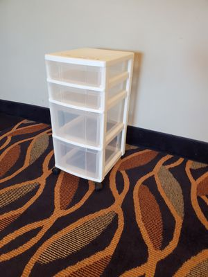 4 Drawer Plastic Storage Container on Wheels for Sale in Silver Spring, MD
