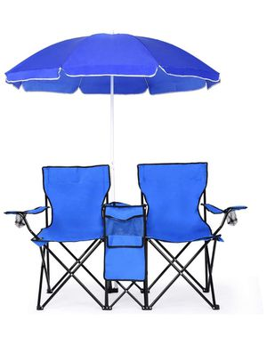 Double Folding Picnic Chairs w/Umbrella for Sale in Hacienda Heights, CA