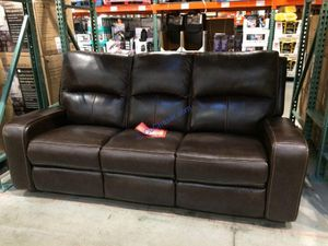 Sawyer Leather Power Reclining Sofa and Love Seat - New for Sale in Gilbert, AZ