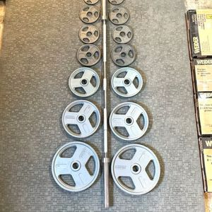 New In box 300lb Olympic Weight Set With 7' 45lb Olympic Bar*—- for Sale in Federal Way, WA