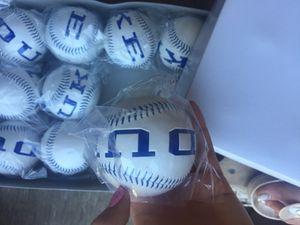 12 white-and-blue Duke baseballs for Sale in Durham, NC