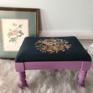 Antique needlepoint footstool for Sale in Fairfax, VA