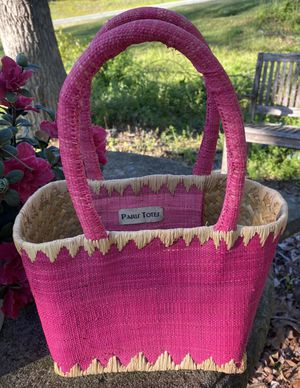 Paris Totes Pink Seagrass Straw Tote Bag for Sale in Chapel Hill, NC