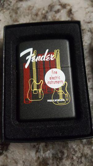 Rare FENDER ZIPPO LIGHTER new in box $25 for Sale in Fresno, CA