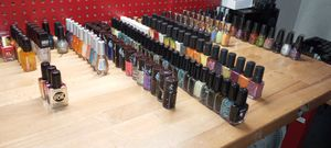 Essie,Sally Hansen, Cover Girl,Salma Hayek,OPI,NAIL POLISHES 100 PCS FOR $70 ALL NEW for Sale in Los Angeles, CA