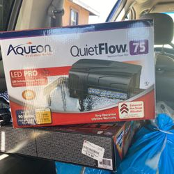 Aqueon QuietFlow LED PRO Aquarium Power Filter 75 $45 for Sale in Cerritos,  CA