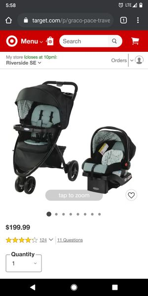 Target/Baby/Strollers/Travel System Strollers‎ Graco Pace Travel System - Birch for Sale in Riverside, CA