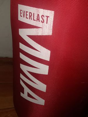 Like new mma everlast punching bag with 3 pairs of boxing gloves for Sale in Anaheim, CA