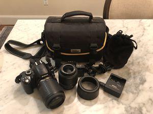 Nikon D60 with Lenses + Accessories for Sale in Marietta, GA