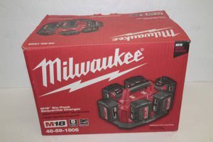Milwaukee M18 18-Volt Lithium-Ion 6-Port Sequential Battery Charger 48-59-1806 for Sale in Norwalk, CA