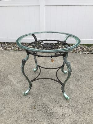 Glass and iron table for Sale in Old Bridge Township, NJ